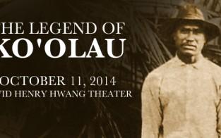 The Legend of Ko'olau, a play by Gary Kubota with actor Moronai Kanekoa