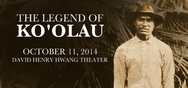 The Legend of Ko'olau, a play by Gary Kubota with actor Moronai Kanekoa