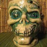2014 Trader Sam's MahaloWeen Luau Zombie Glass