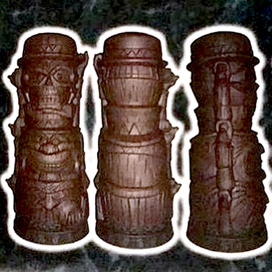 2016 Trader Sam's MahaloWeen Hitchhiking Ghosts Tiki Mug