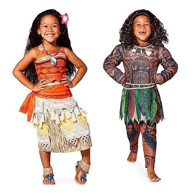 Disney's Moana and Maui Kids Costumes