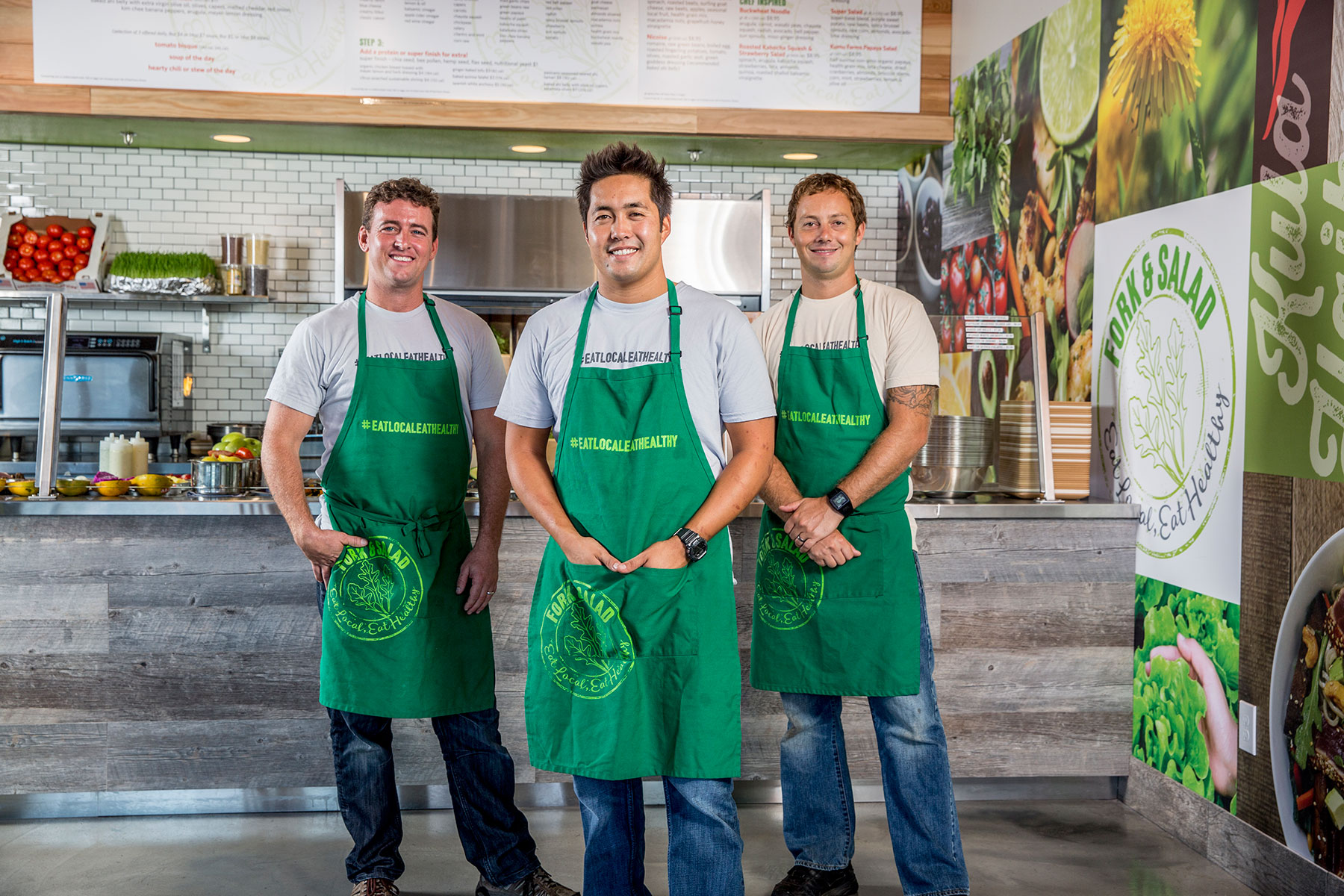 Owners Jaron Blosser, Travis Morrin and Cody Christopher. Photo credit: Fork & Salad
